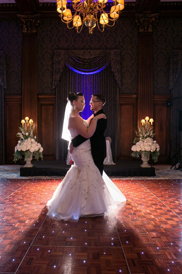 first dance and cleveland union club wedding reception