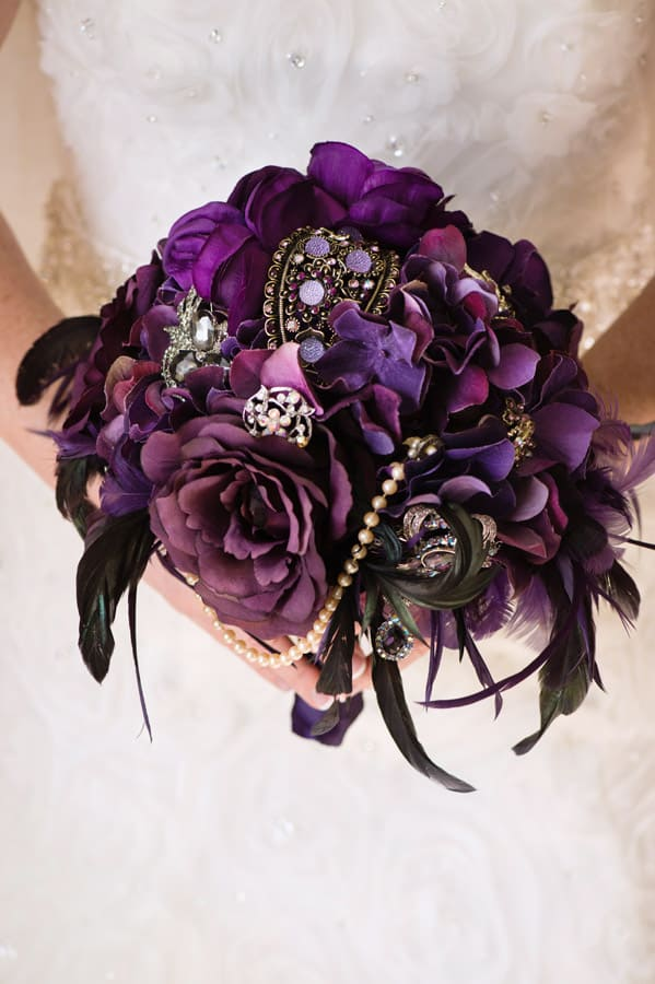handmade brooch bouquet