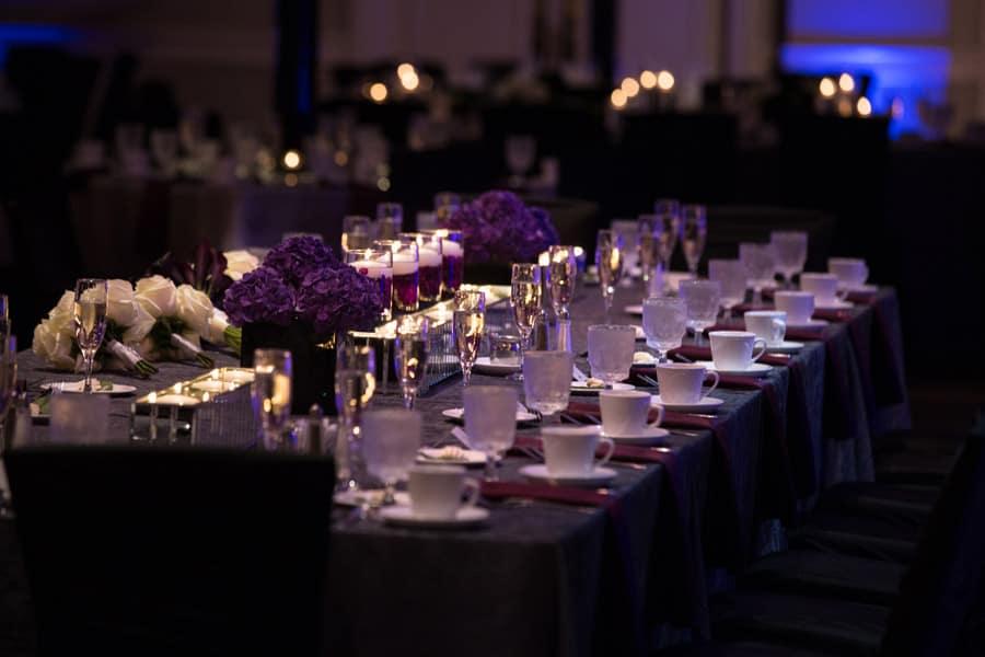 Neil Leeson wedding reception kings table