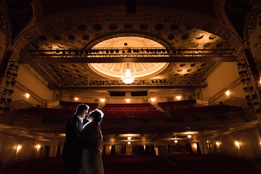 wedding picture at playhouse square cleeveland
