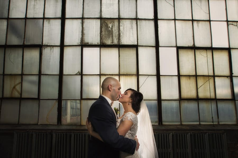 wedding picture in lake erie building