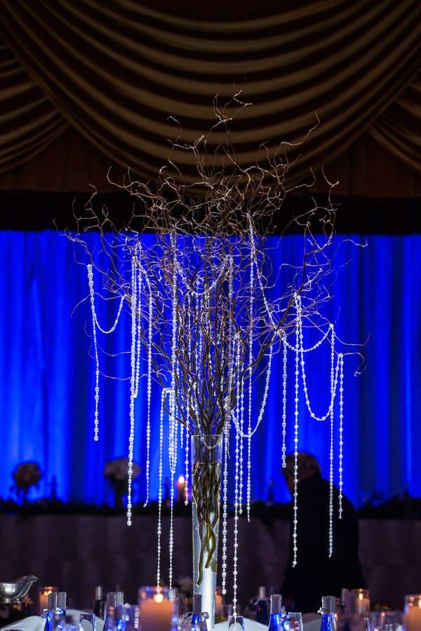 wedding reception centerpiece at cleveland renaissance