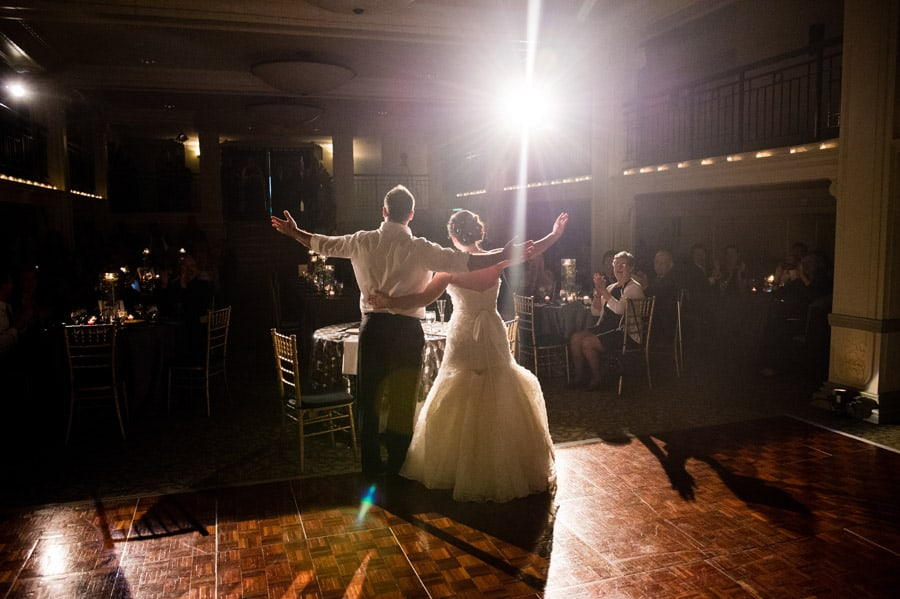 wedding reception picture at Ballroom at Park Lane
