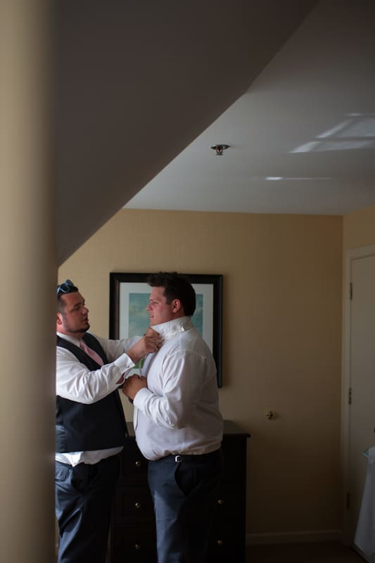 groom getting ready for his wedding in cuyahoga falls