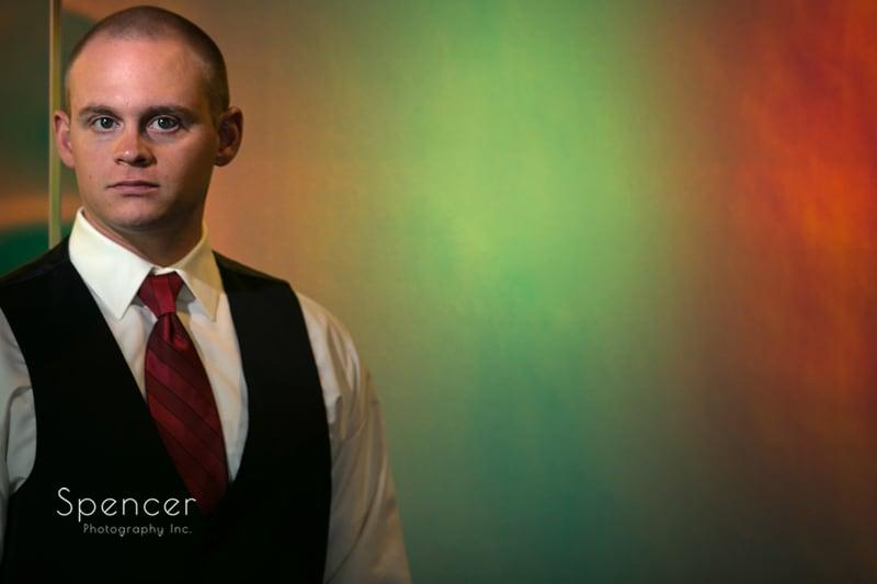 groom portrait at thorncreek winery