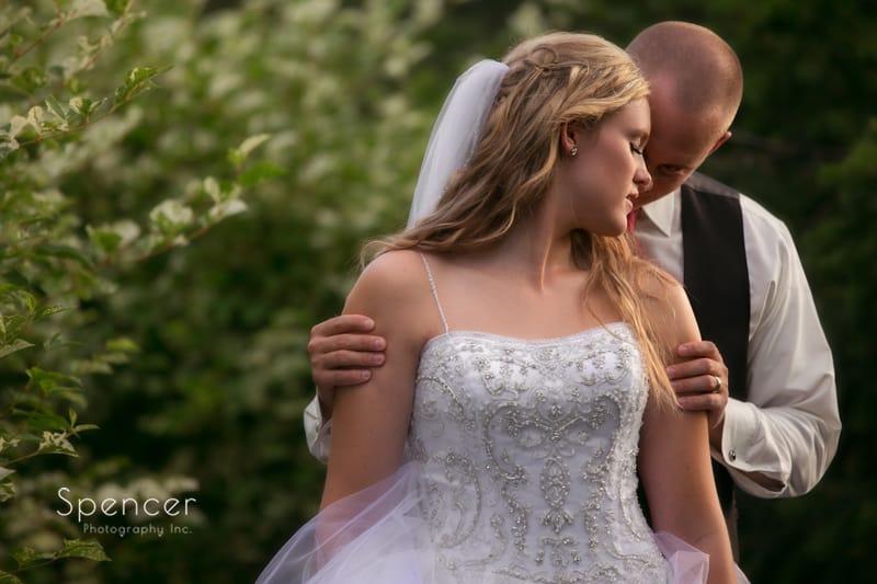bride and groom wedding portrait at thornceek winery