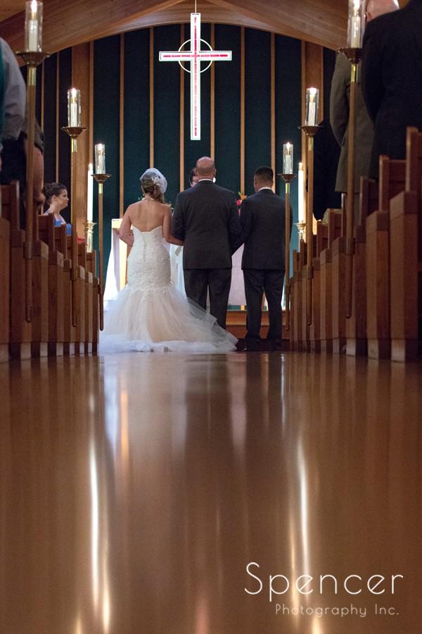 shot of the altar at Canton wedding