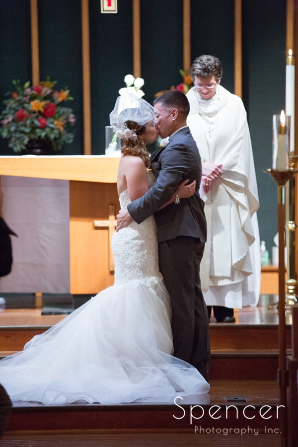 first kiss at wedding in Canton