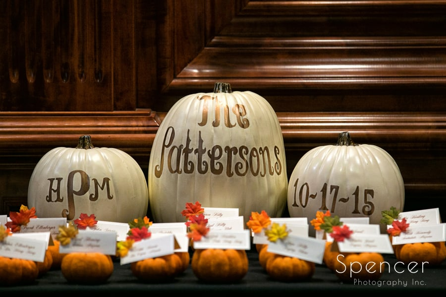 table numbers at la pizzaria wedding reception
