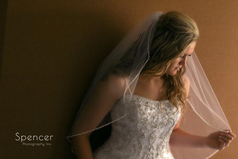 wedding picture of bride at bertram