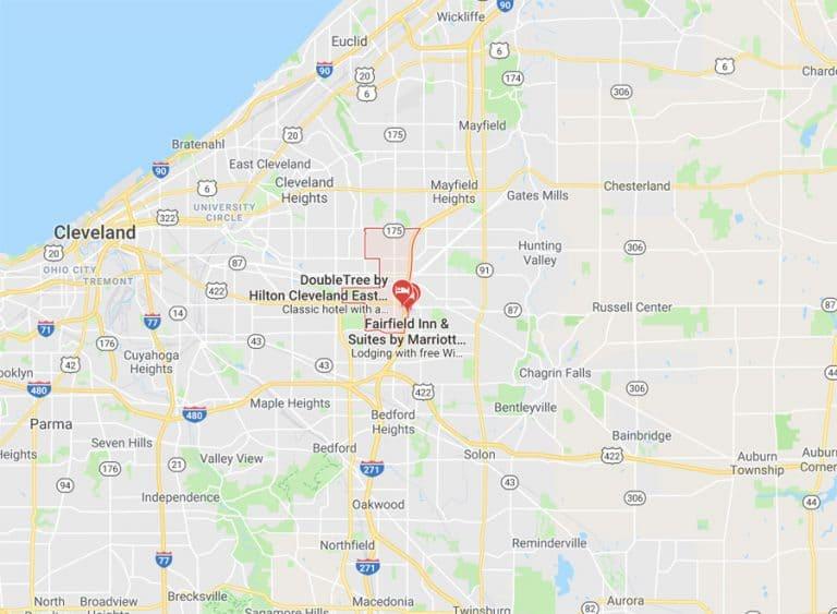 Map of Beechwood Ohio