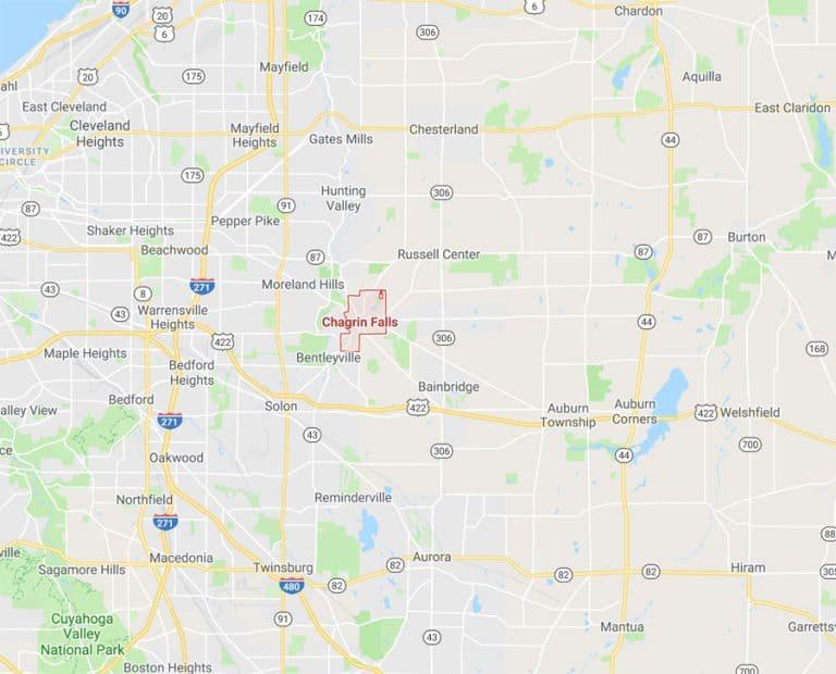 Map of Chagrin Falls Ohio