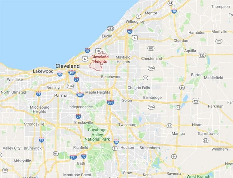 Map of Cleveland Heights Ohio