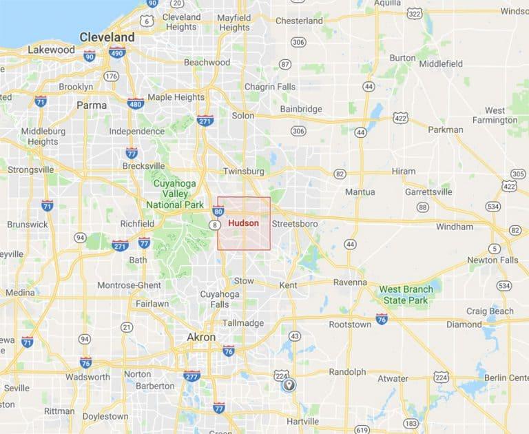 Map of Hudson Ohio