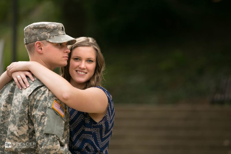 engagement pictures in army uniform