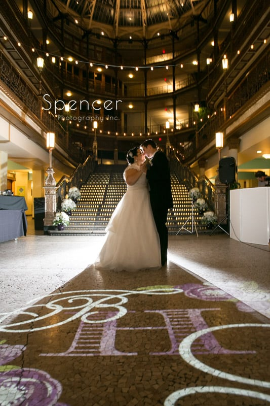 first dance a cleveland arcade wedding reception