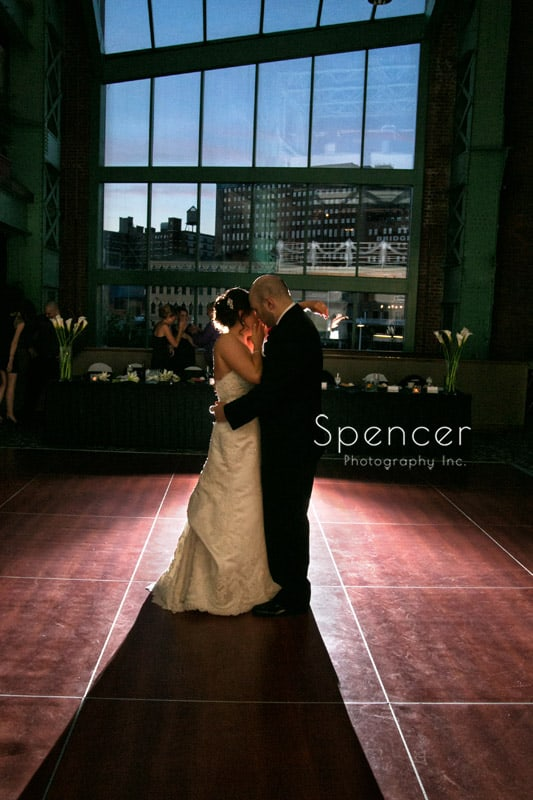 first dance at windows on the river wedding reception