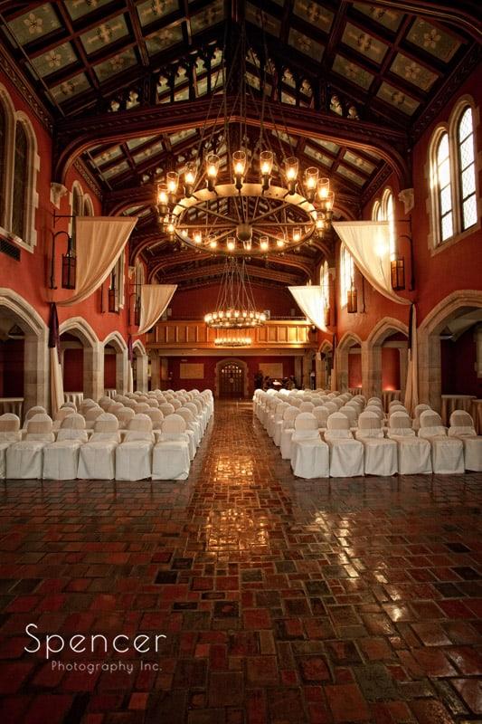 wedding ceremony location in chapel glenmoor country club
