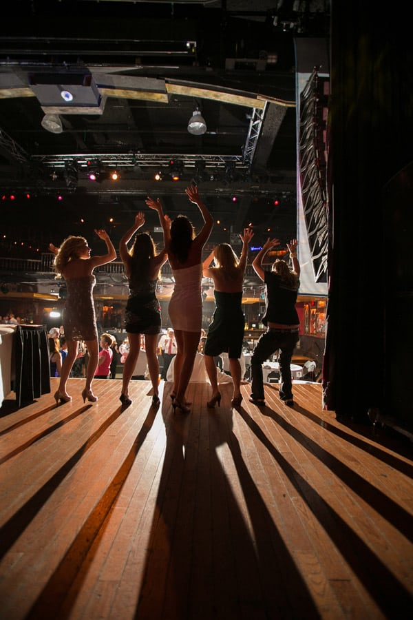 wedding reception guests dance at house of blues