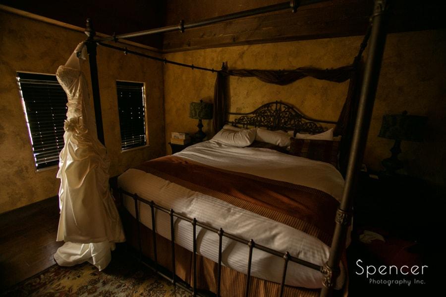 wedding dress in gervasi vineyard suite