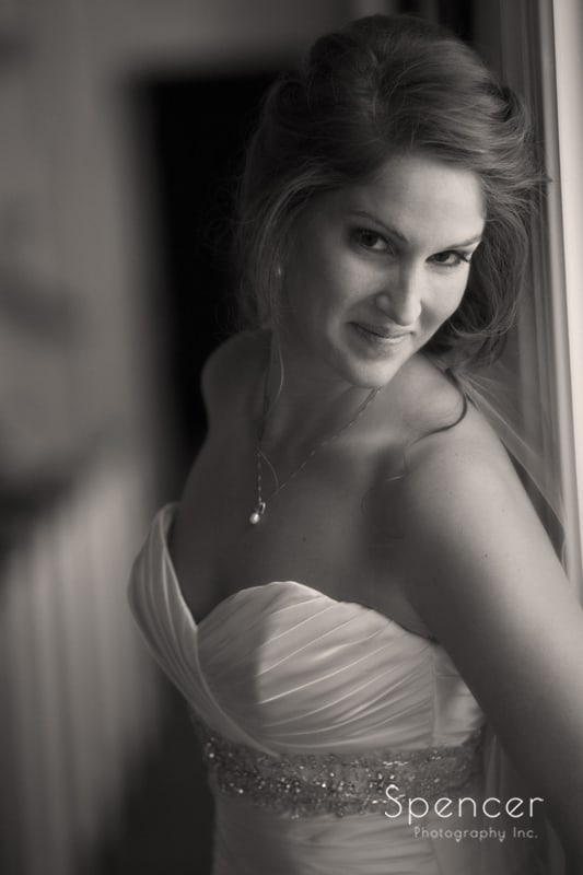 picture of bride before her Canton wedding