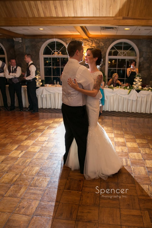 first dance at wedding reception at 100th Bomb Group