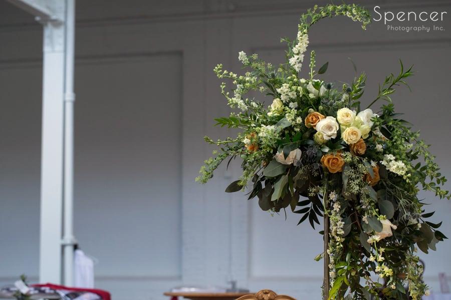 The Red Twig wedding reception centerpiece
