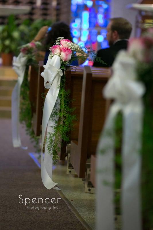 wedding ceremony at st joseph and john catholic church
