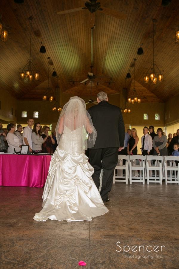 bride walking down aisle at Gervasi wedding ceremony