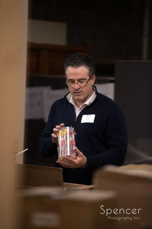 ILEA member taking inventory