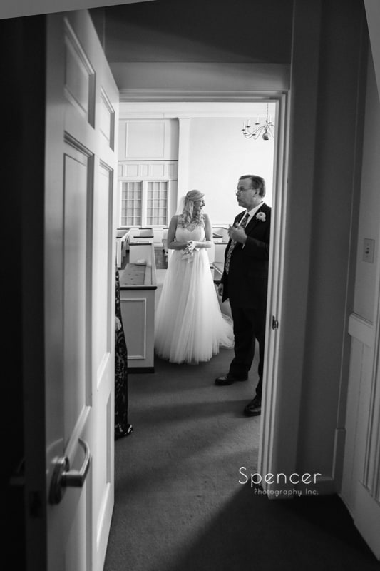 bride waiting for wedding ceremony to begin
