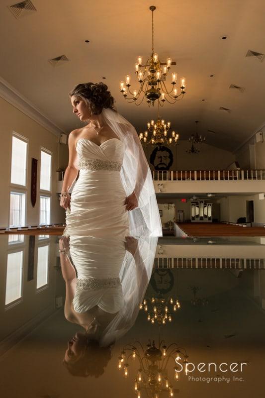 creative wedding picture of bride after Canton wedding