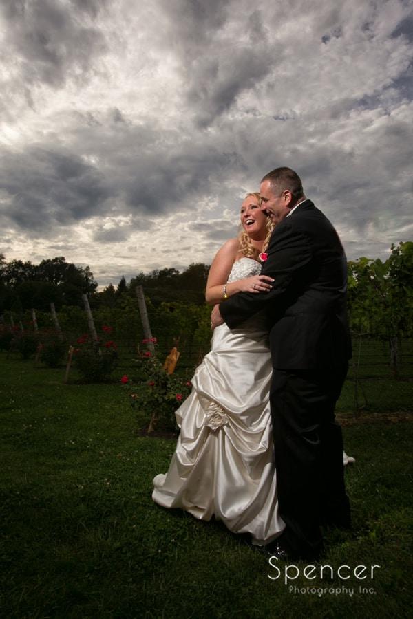 dramatic wedding picture at Gervasi Vineyard