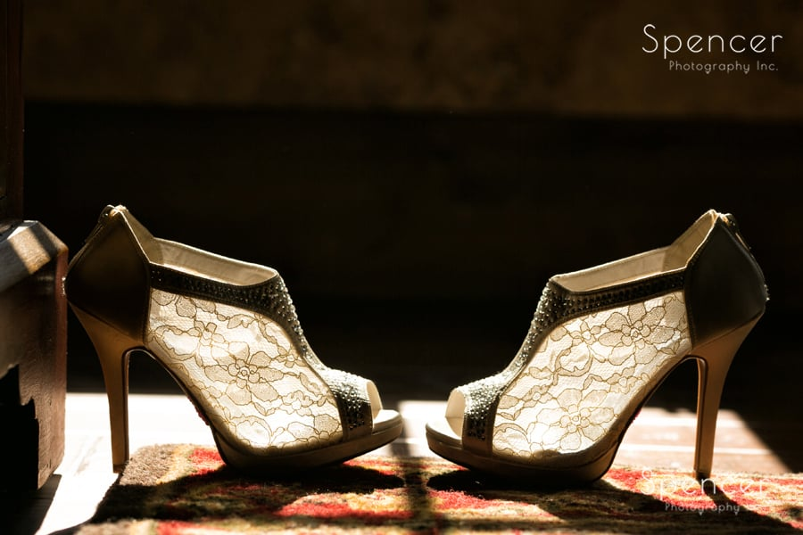 brides shoes in gervasi vineyard suite