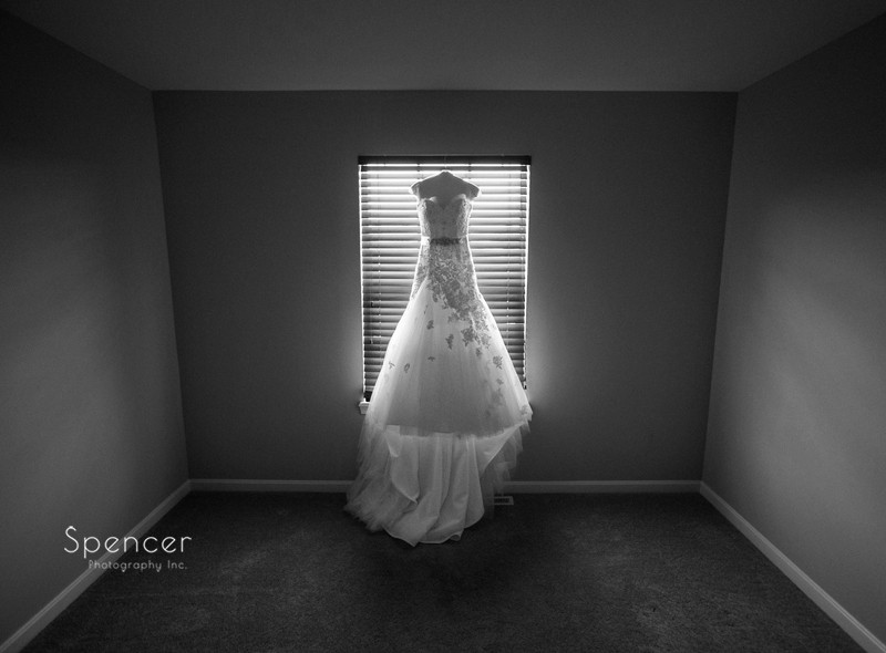 wedding dress at brides house in strongsville
