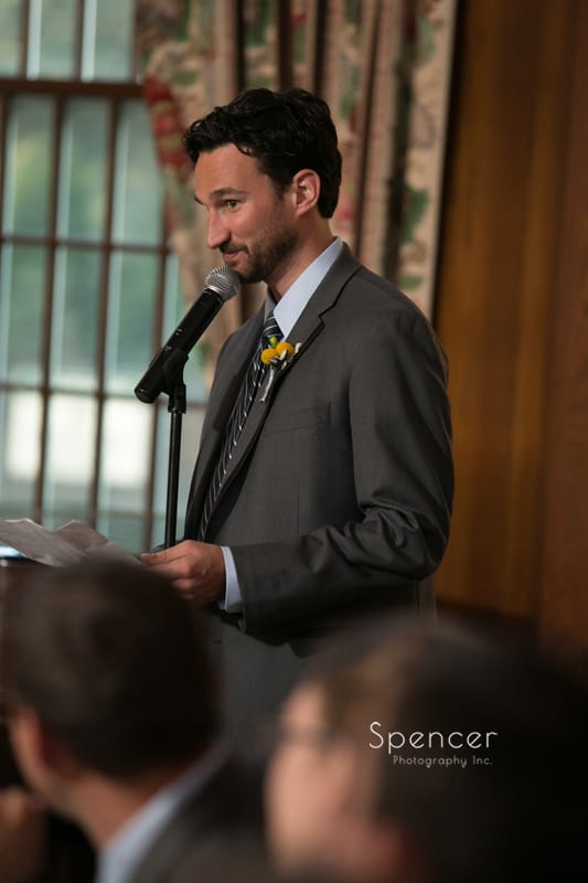 best man speech at Mayfield Country Club wedding reception