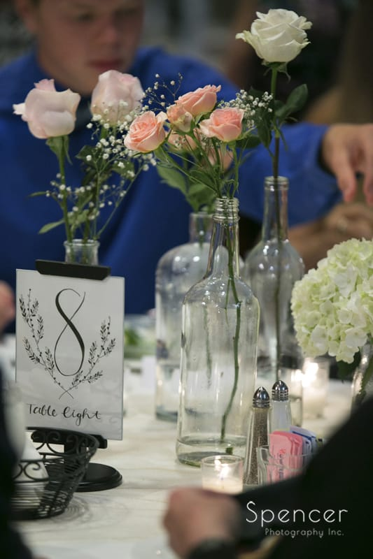 flower wedding reception detail
