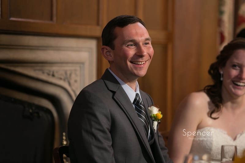 groom reacts to best man speech