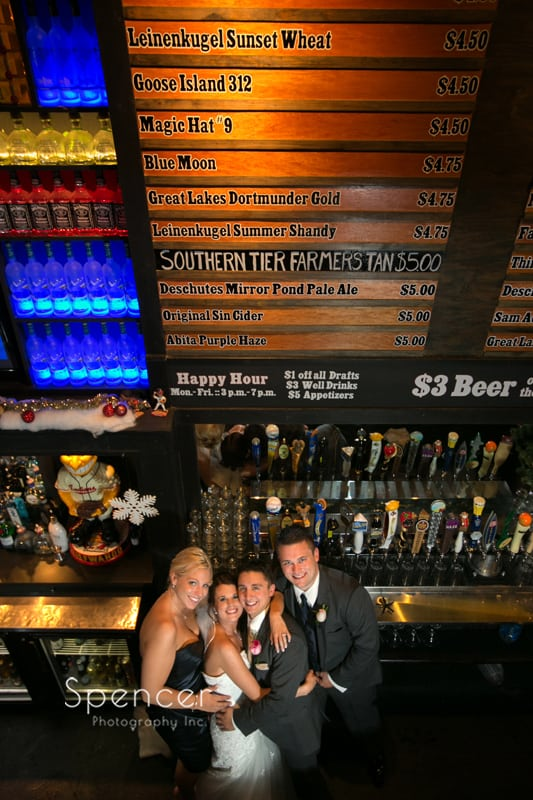 wedding party in tap city in cleveland