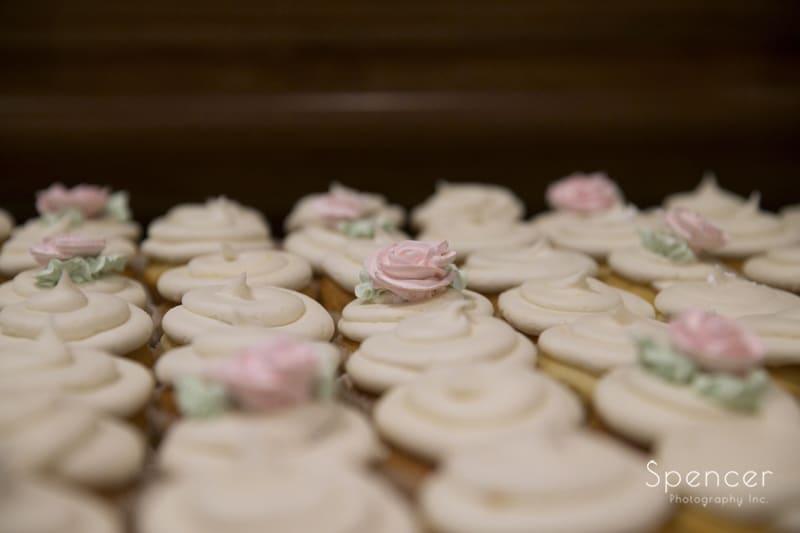 cupcakes at wedding reception at La Pizzaria