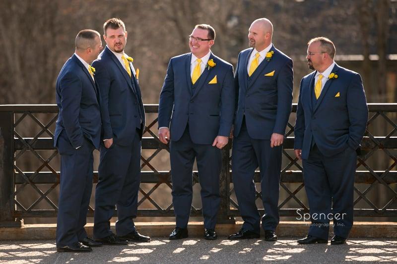 groomsmen on wedding day in Chagrin Falls