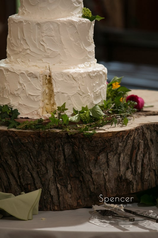 Cut Wedding Cake At Mayfield Country Club Reception