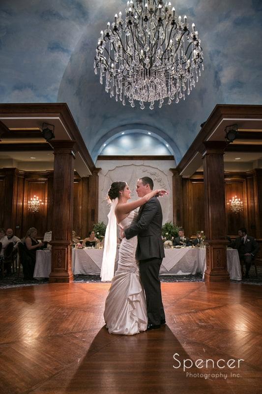 first dance at La Pizzaria wedding reception