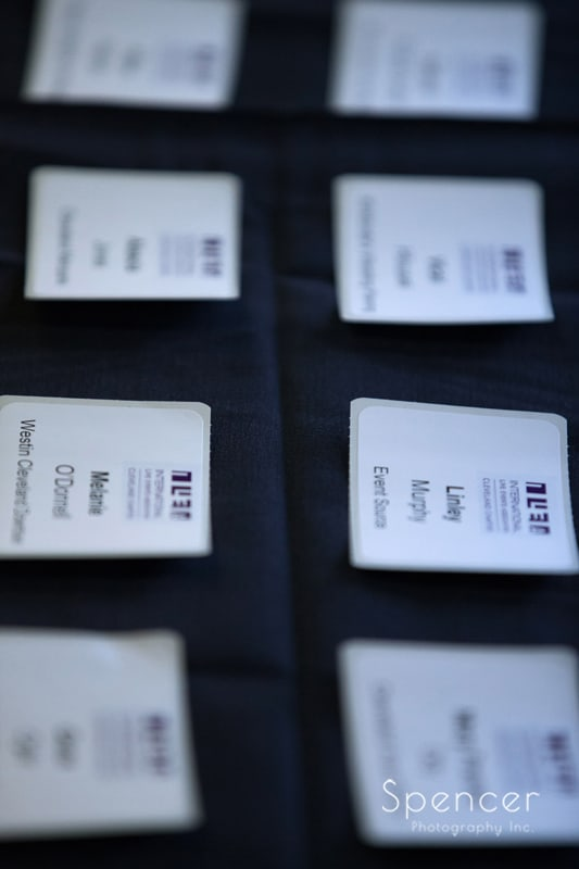 name tags for ILEA Cleveland event