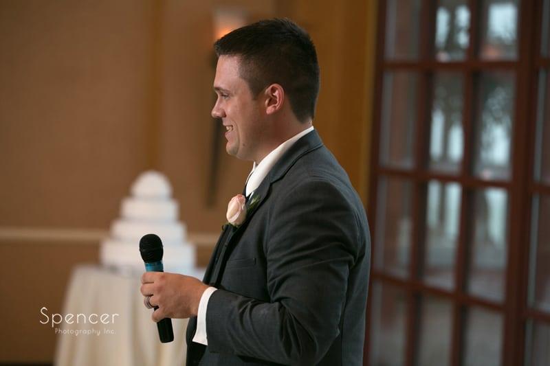 best man reception speech at st. clair ballroom