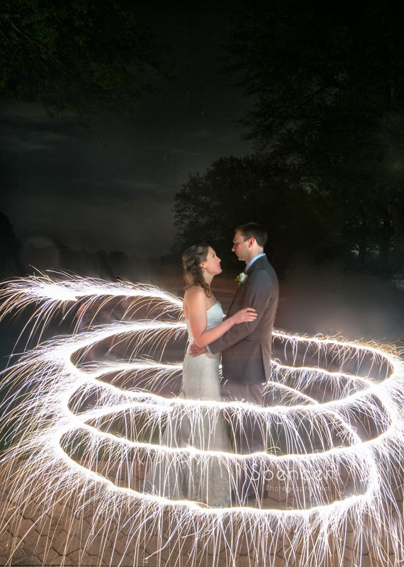 creative wedding picture at Mayfield Country Club