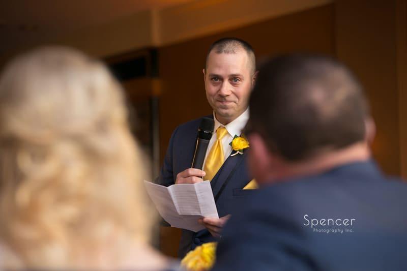 best man gives wedding reception speech