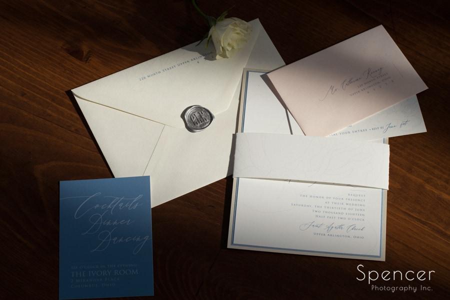 layout of cleveland wedding invitation