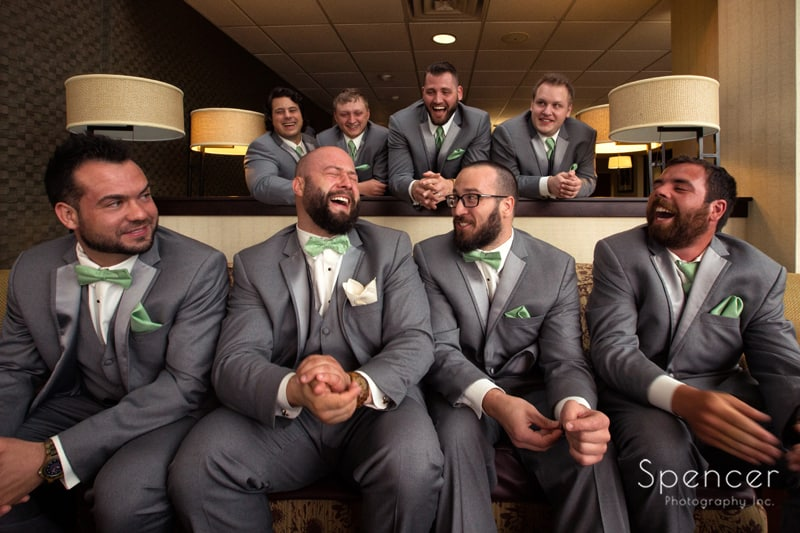 groomsmen before wedding in Cleveland