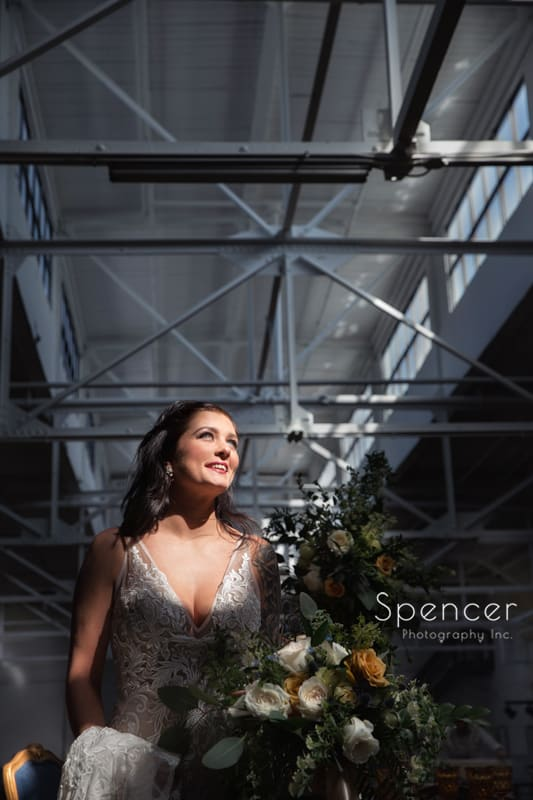 wedding picture of bride in Madison in Cleveland